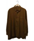 YS for men(ワイズフォーメン)の古着「ウールシャツ」|ブラウン