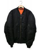 AVIREX(アヴィレックス)の古着「リバーシブルMA-1ジャケット」|ブラック
