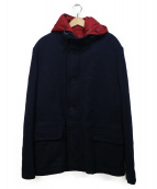 LACOSTE(ラコステ)の古着「中綿ライナー付ウールジャケット」|ネイビー