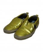GOLDEN GOOSE DELUXE BRAND(ゴールデングースデラックスブランド)の古着「スリッポン」|ゴールド