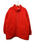 LHP(エルヘイチピ)の古着「パディングボア ボンバージャケット」|レッド