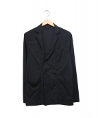 ABAHOUSE(アバハウス)の古着「ナイロンストレッチダブルジャケット」|ブラック