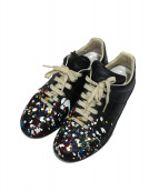 Maison Margiela(メゾンマルジェラ)の古着「Paint Splatter Replica Sneaker」|ホワイト