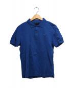 PRADA(プラダ)の古着「ロゴワッペンポロシャツ」|ブルー