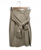LANVIN en Bleu(ランバン オン ブルー)の古着「ベルト付スカート」