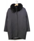 GOUT COMMUN(グー コミューン)の古着「ラクーンファー付フーデッドコート」|グレー
