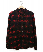 SOPHNET.(ソフネット)の古着「CAMOUFLAGE OVER PRINT FLANNEL 」|レッド