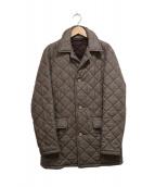 MACKINTOSH(マッキントッシュ)の古着「ウールチェックキルティングジャケット」|ブラウン