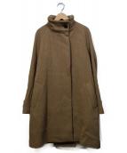 Comptoir des Cotonniers(コントワーデコトニエ)の古着「ヘビーウールツィルスタンドカラーコート」|ブラウン