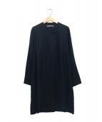 fog linen work(フォグリネンワーク)の古着「ノーカラーコート」|ネイビー