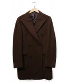 TAGLIATORE(タリアトーレ)の古着「ネップ加工ダブルチェスターコート」|ブラウン