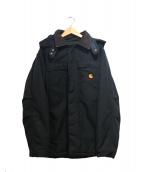 carhartt(カーハート)の古着「中綿フーデッドダックコート」|ブラック×ブラウン