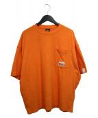 N.HOOLYWOOD x TIMBERLAND PRO(エヌハリウッド × ティンバーランド)の古着「COLLABORATION SHORT SLEEVE T-S」|オレンジ
