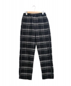 UNUSED(アンユーズド)の古着「CHECK EASY PANTS」