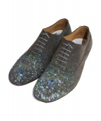 Maison Margiela(メゾンマルジェラ)の古着「Paint splatter suede shoes」|グレー