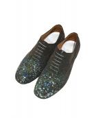 Maison Margiela(メゾンマルジェラ)の古着「Paint splatter suede shoes」 グレー