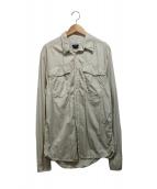 VERSACE(ヴェルサーチ)の古着「加工シャツ」|ベージュ