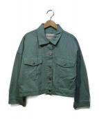 RAY BEAMS(レイビームス)の古着「ショート丈デニムジャケット」|グリーン