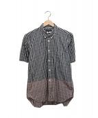 COMME des GARCONS HommePlus(コムデギャルソンオムプリュス)の古着「チェックBDシャツ」|ホワイト×ブラック