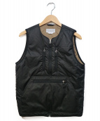 ENDS AND MEANS(エンズアンド ミーンズ)の古着「Tactical Puff Vest」|ブラック×ベージュ