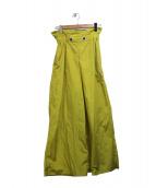 UN3D.(アンスリード)の古着「ナイロンワイドパンツ」|イエロー