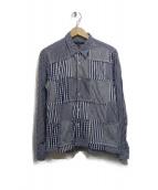 COMME des GARCONS HOMME(コムデギャルソンオム)の古着「クレイジーパターンチェックシャツ」