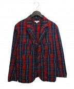 Engineered Garments()の古着「Bedford Jacket」|ネイビー×レッド