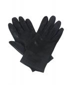 HERMES(エルメス)の古着「レザーグローブ」|ブラック
