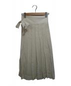 MACPHEE(マカフィー)の古着「コットンボイルラッププリーツスカート」