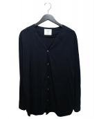 bukht(ブフト)の古着「バンブーノーカラーシャツ」|ネイビー