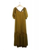 AMERI(アメリ)の古着「VENUS SHEER DRESS」|イエロー