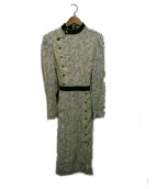 Olympia Le-Tan(オリンピア・ル・タン)の古着「総柄ワンピース」|アイボリー×グリーン