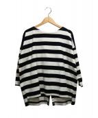 SACRA(サクラ)の古着「バックリボンバスクシャツ」|ホワイト×ブラック