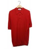 JOHN SMEDLEY(ジョン スメドレー)の古着「ニットポロシャツ」|レッド