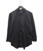 BLACK COMME des GARCONS(ブラックコムデギャルソン)の古着「製品染めコットンシャツ」|ブラック