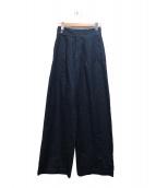 DOUBLE STANDARD CLOTHING(ダブル スタンダード クロージング)の古着「デニムウエポングルカパンツ」|インディゴ