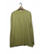 unfil(アンフィル)の古着「長袖Tシャツ」|イエロー