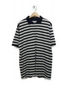 NIGEL CABOURN(ナイジェルケーボン)の古着「ボーダーポロシャツ」|ホワイト×イエロー