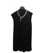 JUNYA WATANABE CDG(ジュンヤワタナベ コムデギャルソン)の古着「パール装飾ドレスワンピ」|ブラック