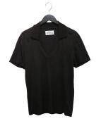 Maison Margiela(メゾンマルジェラ)の古着「デザインVネックシャツ」 ブラウン