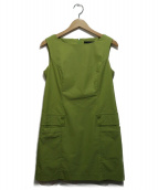 FOXEY NEWYORK(フォクシーニューヨーク)の古着「サーマモニカワンピース」|黄緑