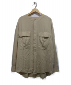 unfil(アンフィル)の古着「HIGH TWIST COTTON GABARDINE KH」|ベージュ