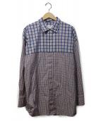 SUPERTHANKS×ABAHOUSE(スーパーサンクス×アバハウス)の古着「SWITCHING ビックシャツ」|トリコロールカラー