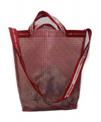 beautiful people(ビューティフルピープル)の古着「vinyl logo tape shoulder bag」|レッド