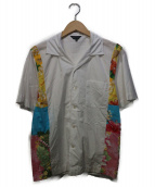 COMME des GARCONS(コムデギャルソン)の古着「ボタニカル切替オープンカラーシャツ」|ブラック×イエロー