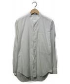 ISSEY MIYAKE MEN(イッセイ ミヤケ メン)の古着「比翼バンドカラーシャツ」|ホワイト