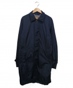 Sealup(シーラップ)の古着「ナイロンステンカラーコート」|ネイビー