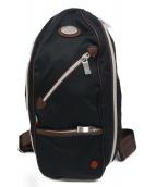 Orobianco(オロビアンコ)の古着「ナイロンショルダーバッグ」|ブラック×ブラウン