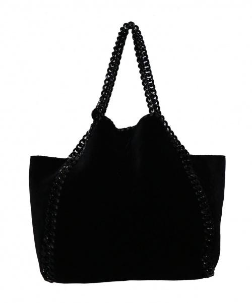 STELLA McCARTNEY(ステラマッカートニー)STELLA McCARTNEY (ステラマッカートニー) Mini Tote Reversible Velvet Fa ブラック×ベージュ 529282 W8321 の古着・服飾アイテム