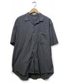 COMME des GARCONS HOMME(コムデギャルソンオム)の古着「ワイドシルエットチェックシャツ」|ホワイト×ネイビー